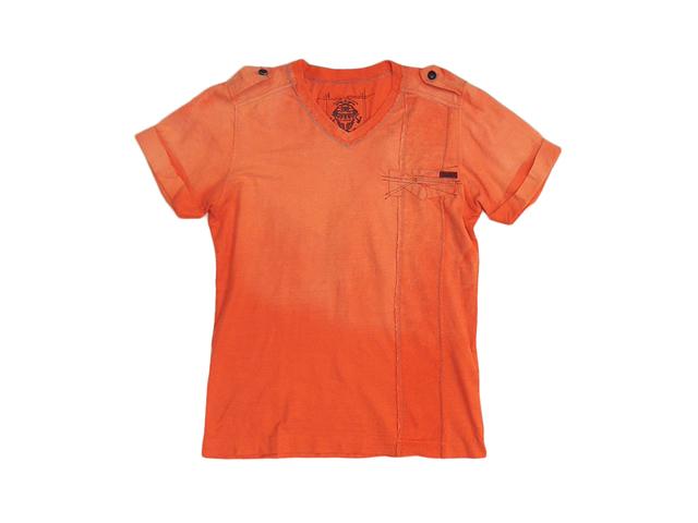 【ジルボーメンズ】Mサイズ★夏を待てないオレンジVTシャツ☆彡色抜きグラデェーション 50%OFF