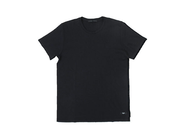 【TATRAS】メンズ◇03(L)サイズ☆シルクTシャツの様な肌触り☆彡ブラックTシャツ☆彡20%OFF