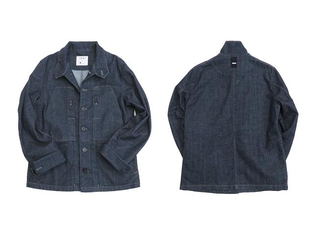 【HIGH】メンズ◇S(L~XL)サイズ☆ストレッチの効いた上品なシャツ感覚のデニムブルゾン☆彡40%OFF