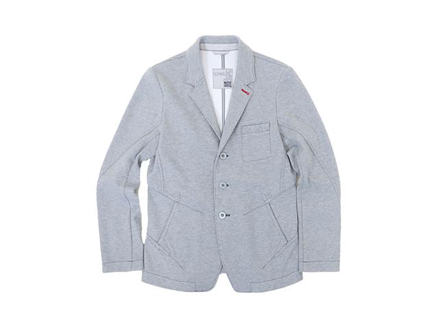 【ジルボー】メンズ(M)サイズ◇ライトグレーボンディングスウエットジャケット登場☆彡50%OFF