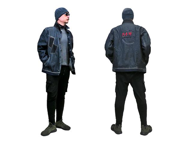 【ジルボー】メンズ◇L(L~XL)サイズ☆(RAW DENIM)生デニムを使ったジャケットがUSAから到着!!!35%OFF