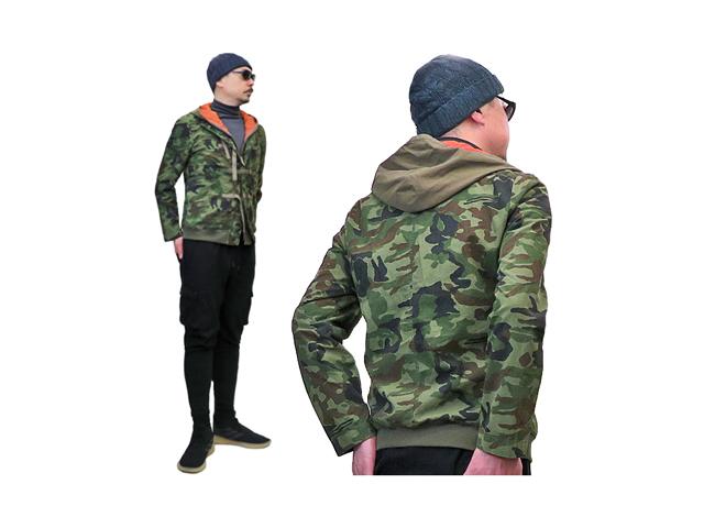 【ジルボー】メンズ◇希少な迷彩ブルゾン◇ロングシーズンオシャレに着る Lサイズ☆50%OFF