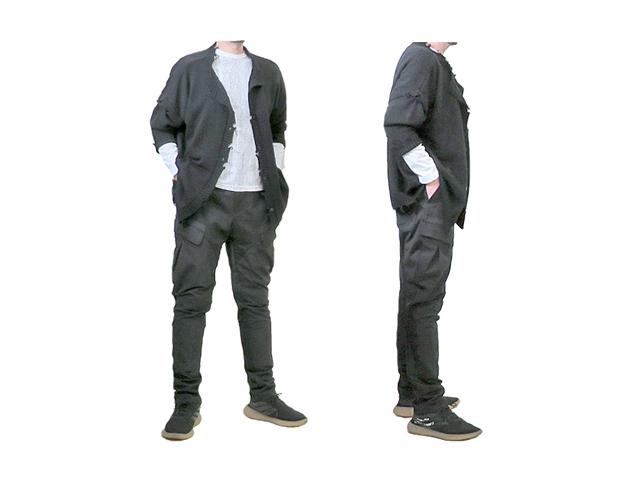 【HGIH】メンズ 46/48/50(S~M~L/L~XL)サイズ☆春、秋こんなに穿きやすいサイドパンツは「HIGH」だけ☆彡ブラックストレッチパンツ☆40%OFF