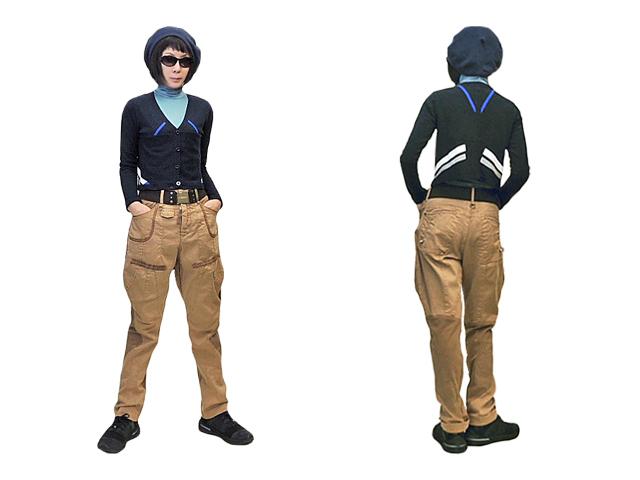 【HIGH】メンズ&レディース44(メンズのM,レディスのL)◇男女関係なし☆彡ストレッチキャメルパンツ40%OFF