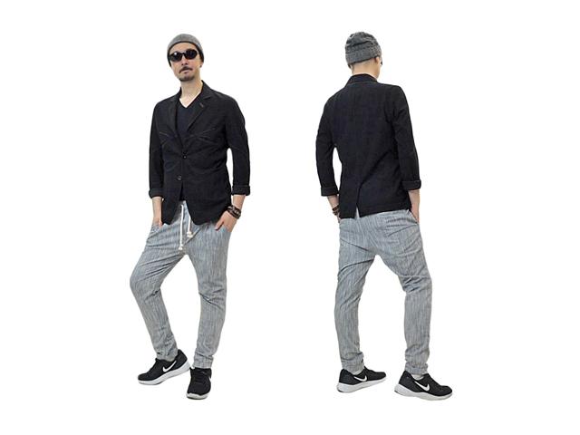 【X-CAPE】メンズ&レディース◇M、Lサイズ☆魅力満載のライトグレー織柄パンツ♪涼しさと楽々30%OFF