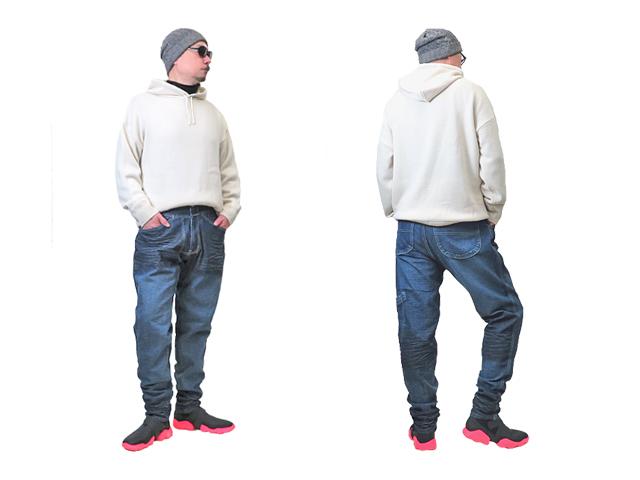 【ジルボー】メンズ32(L)サイズ☆テーパード ビンテージ加工デニムを穿きこなせ!ハイテクスニーカーを使って☆彡50%OFF