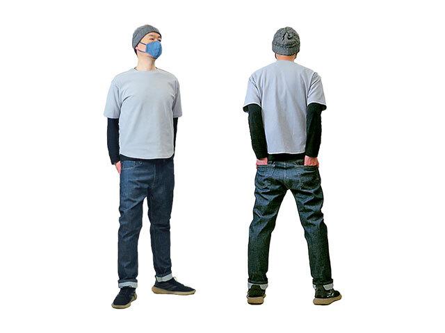 【HGIH】メンズ 48(86cm)サイズ☆綺麗目色のストレッチデニムをコザルシルエットで穿く☆彡40%OFF