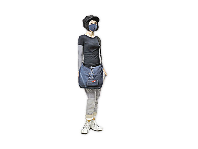 【GCL57】レディース&メンズ◇「ジルボー」ビンテージ加工デニムに安定のデザイン◇マスクケースがポイントに☆彡ワンショルダーバッグ☆彡