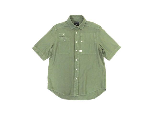 【G-STAR】メンズM(L)サイズ◇ミリタリーグリーン半袖シャツ◇フロントポケットの使い方がポイント☆彡30%OFF