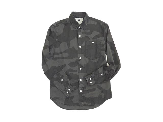 【G-STAR】メンズ◇S(M)サイズ☆クールな大柄迷彩シャツをオシャレに着る☆彡