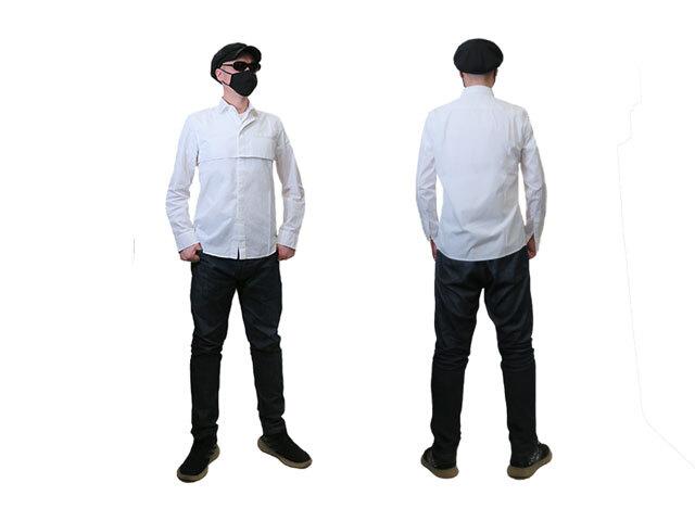 【HIGH】メンズ◇48/52(L/XL)サイズ☆コットン100%なのにストレスフリーな感覚で着れるホワイトシャツ☆彡40%OFF