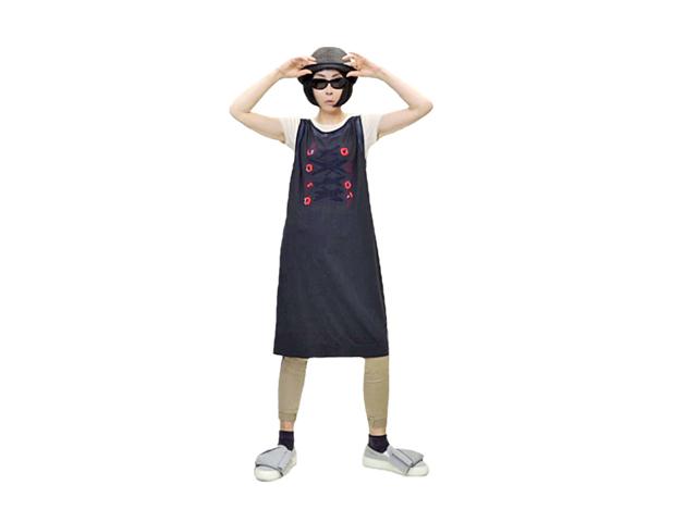 【ジルボー】レディース◇イタリア42サイズ☆日本のMサイズ彡ストレッチワンピース ◇しなやかな伸びとアートなプリント40%OFF