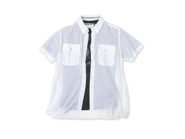 【ジルボー】メンズ◇Mサイズ☆ゆったりライン!日本国内ライセンスのLサイズ感覚☆彡 夏の白半袖シャツは持ってなきゃ♪