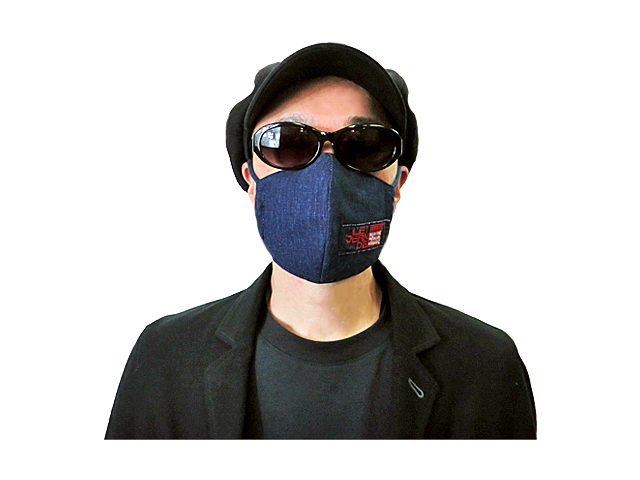 【GCL-MASK9】(メンズ/レディース)サイズ☆ビンテージ加工デニムマスク☆ マスクつけるなら『オシャレなマスクがしたい!』が出来ました☆送料無料でお届けします☆彡