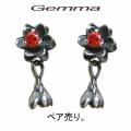 [送料無料] ジェンマ ~ レディース ジェンマ ロータスピアス~ジルコニア~GL-Pi005-R (ペア売り)