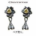 [送料無料] ジェンマ 〜 レディース ジェンマ ロータスピアス〜ジルコニア〜GL-Pi007-Y (ペア売り)