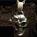 [送料無料] gemma (ジェンマ) メンズ〜シルバーアクセサリー〜スカルゴシッククロス・ペンダント〜 GS-P1211(Brass)