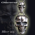 シルバ-アクセサリー 送料無料 gemma (ジェンマ) メンズ~シルバーアクセサリー~スカルペンダント~ GS-P1402