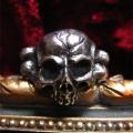 シルバーアクセサリー 送料無料 Gemma (ジェンマ) シルバ-リングスカル アクセサリー メンズ ジュエリー ブランド リング 指輪 シルバー 925 GS-R1201