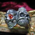 シルバーアクセサリー 送料無料 シルバ-リングスカル メンズ リング 指輪 Gemma (ジェンマ) ダブルスカル リング GS-R1301
