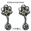 送料無料 ジェンマ レディース ロータスピアス〜ジルコニア〜GL-Pi003-Y (ペア売り)