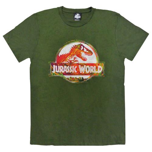 「ジュラシック・ワールド」Tシャツ アーミーグリーンLサイズ