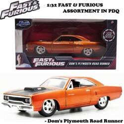 JADATOYS 1:32 ワイルドスピード プルバックカー Dom's Plymouth Road Runner