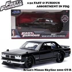 JADATOYS 1:32 ワイルドスピード プルバックカー Brian's Nissan Skyline 2000 GT