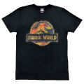 「ジュラシック・ワールド」Tシャツ ブラックLサイズ