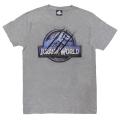 「ジュラシック・ワールド」Tシャツ ヘザーグレーMサイズ