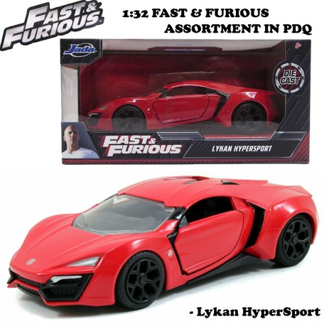 JADATOYS 1:32 ワイルドスピード プルバックカー Lykan HyperSport