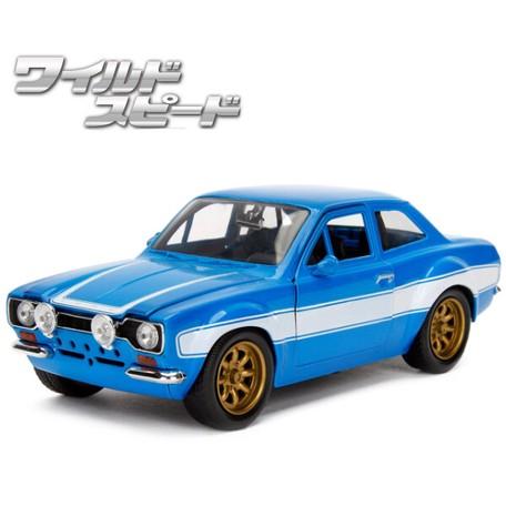 JADATOYS 1:24ワイルドスピードダイキャストカー BRIAN'S FORD ESCORT RS2000 MK1