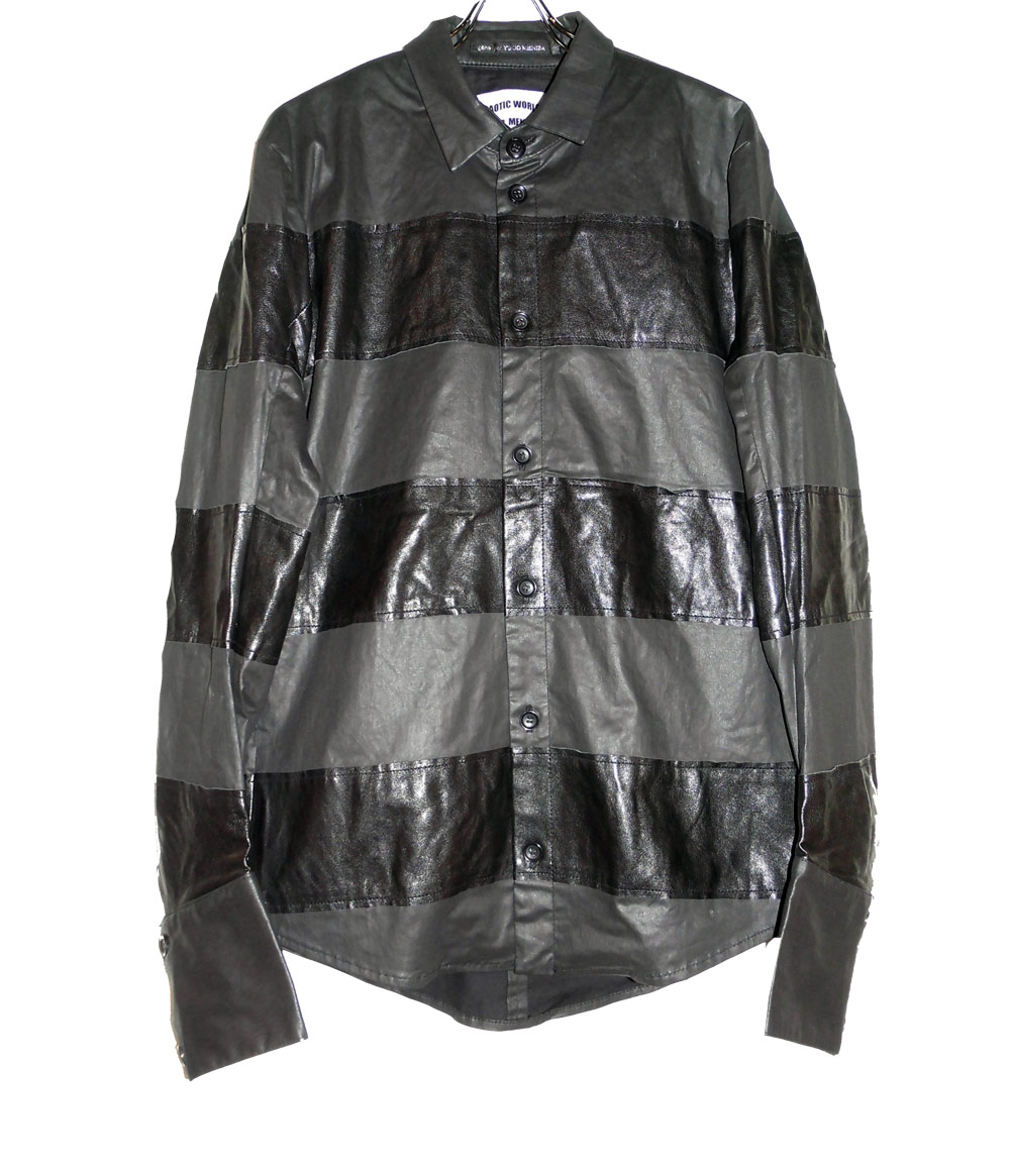 Leather Border Sirts Blouson