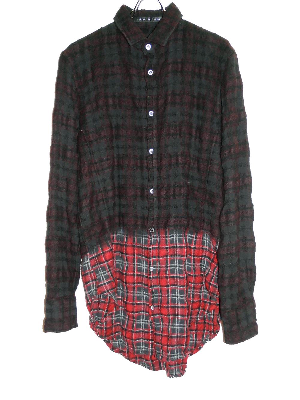 Wool Cotton Check Shirt
