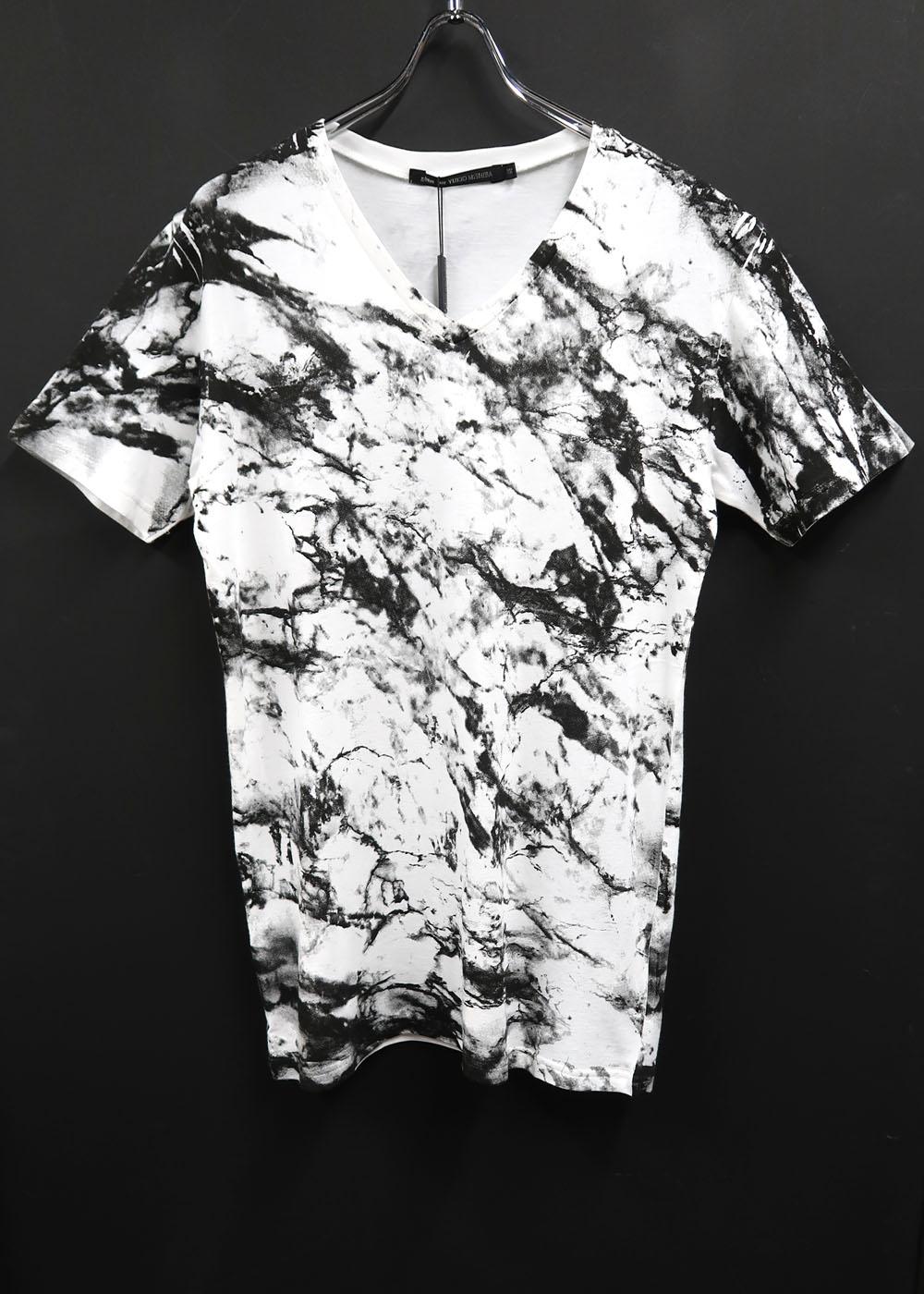 Cotton,Rayon V-neck T-shirt *2色