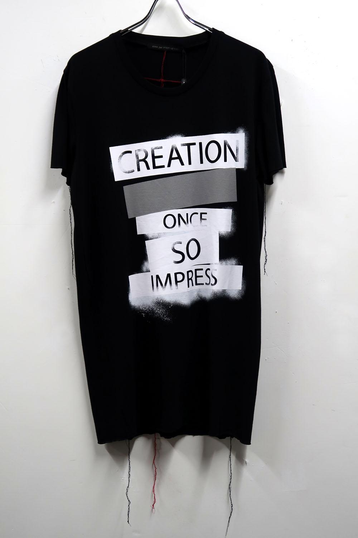 Cotton,Rayon Round-binder neck T-shirt<CREATION> *2色