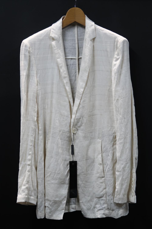 Linen,Cotton Mesh Boarder Jacquard Jacket *2色