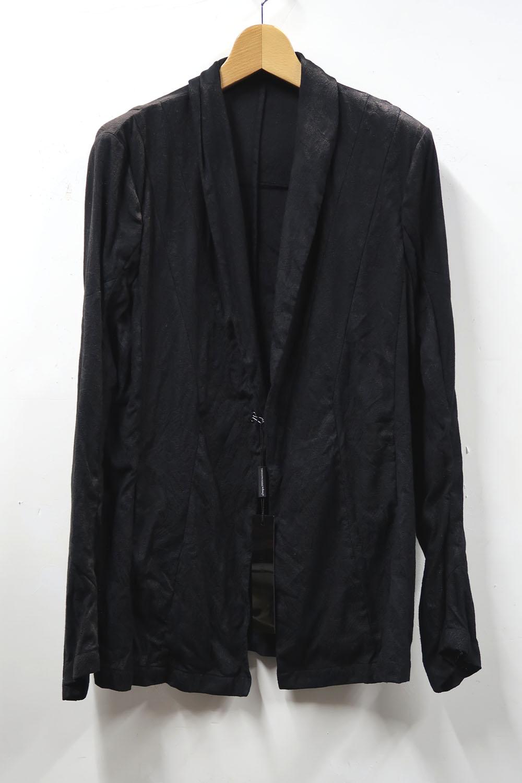 Linen,Cotton Mesh Jacquard Cardigan Jacket  *2色