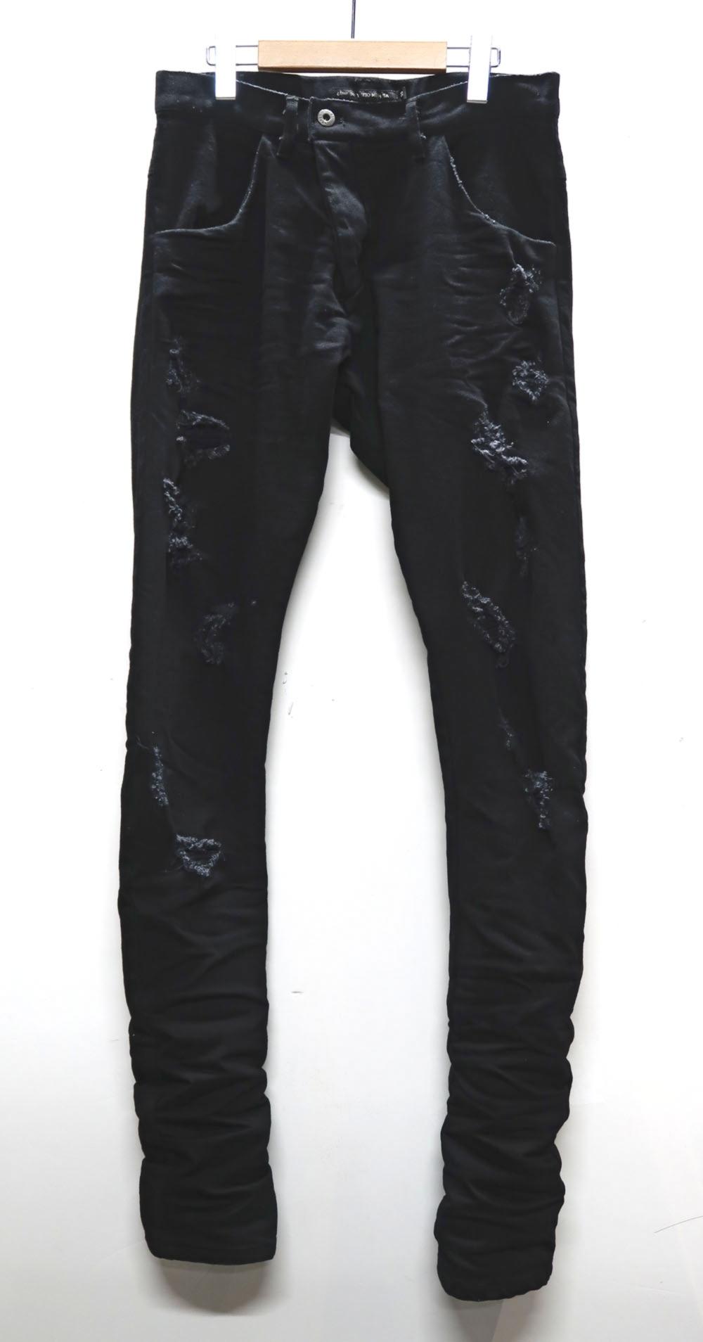 Cotton Stretch Black Denim Pants