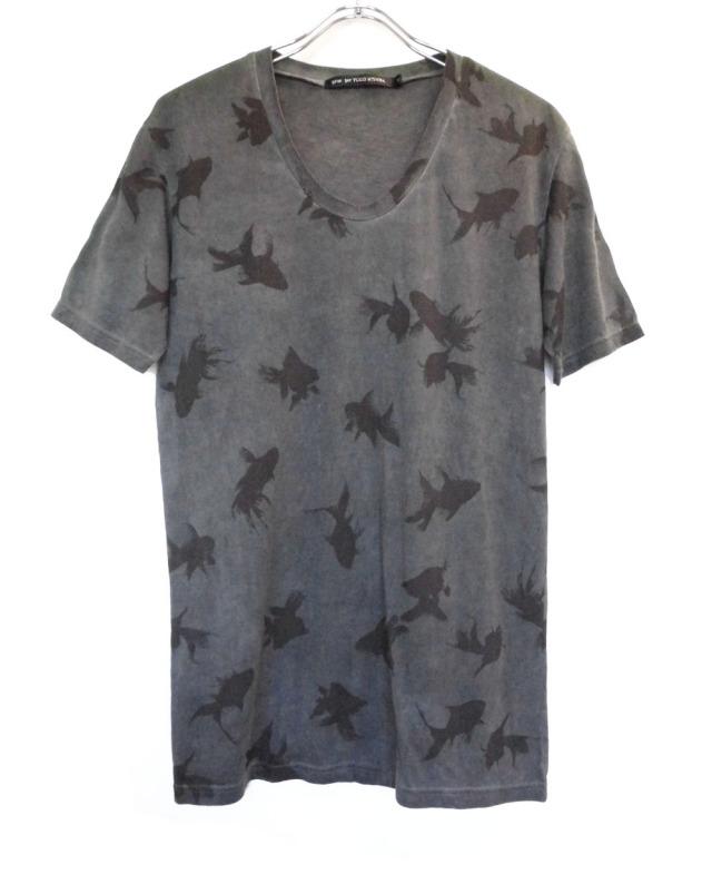 Cotton U neck T-shirt