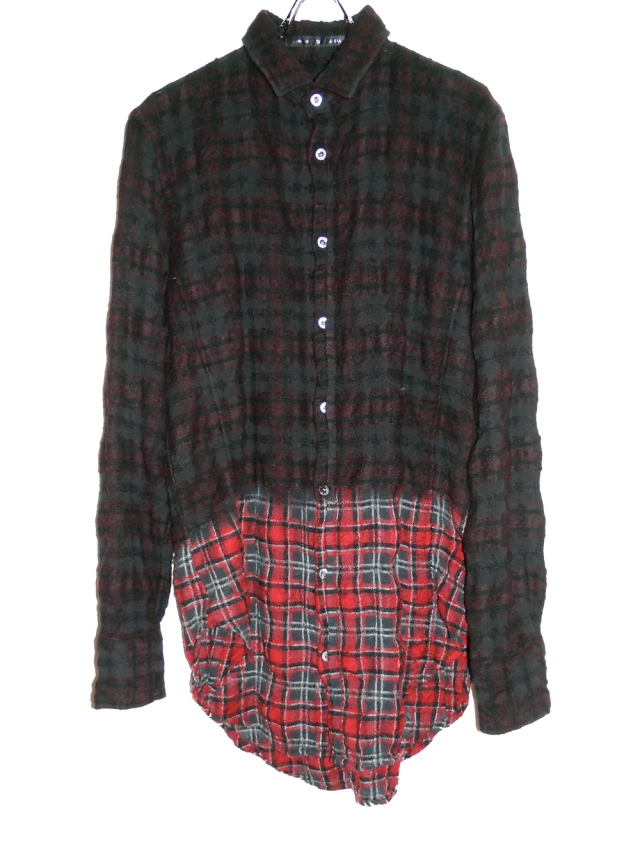 Wool Cotton Check Shirt