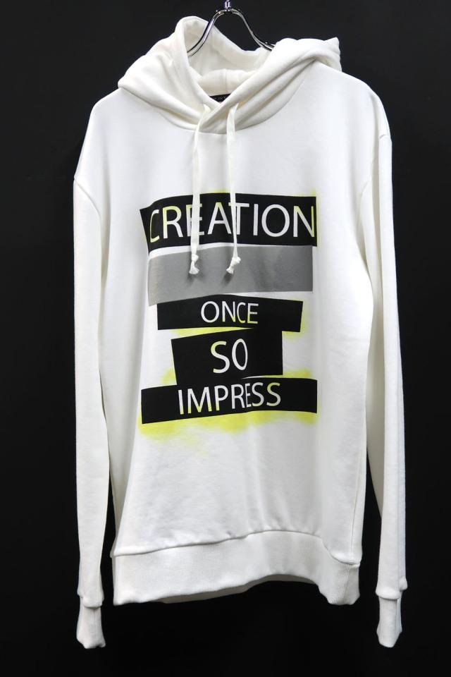 Cotton Print Hoodie Cut&Sew<CREATION> *2色