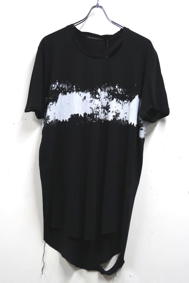 Cotton,Rayon Round-binder neck T-shirt<Spray Line> *2色
