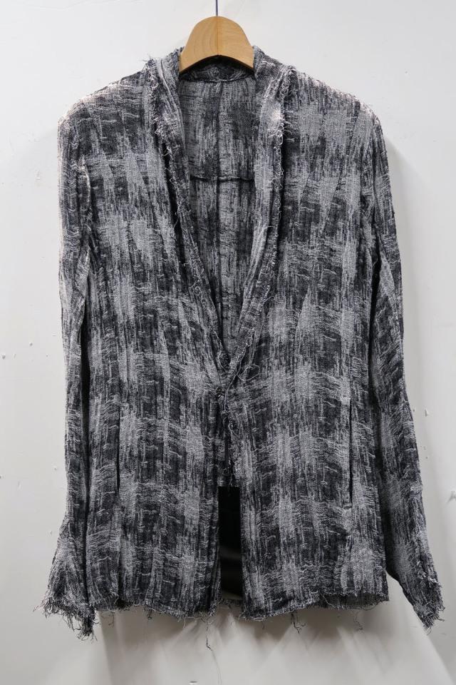 Linen,Polyester Jacquard Cardigan Jacket