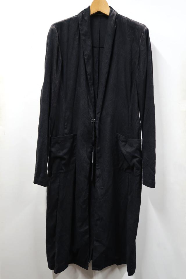 Linen,Cotton Mesh Jacquard Long Cardigan Jacket