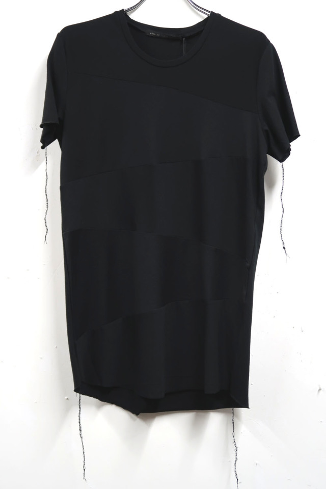 Cotton,Rayon Round-binder neck T-shirt<Color or Not> *2色
