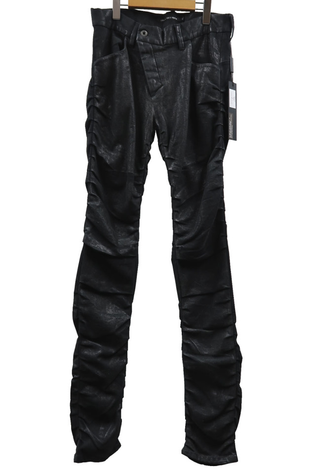 Mirror Coating Stretch Denim Pants