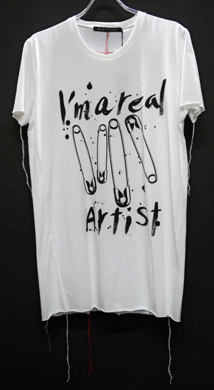 Cotton Round-binder neck T-shirt<Artist>