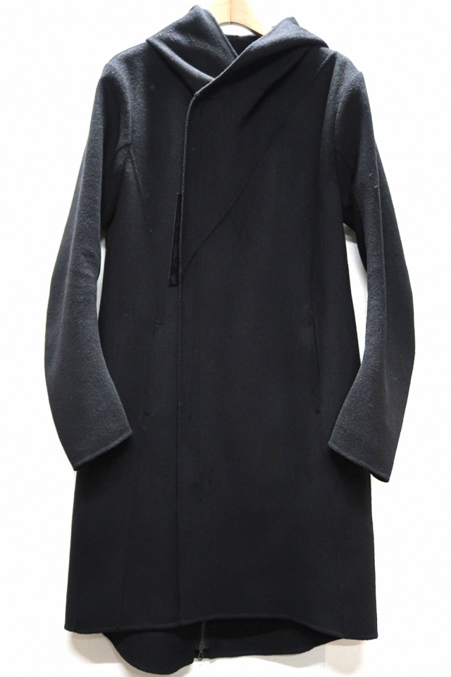 Wool & Polyester Duble-face Hooded Coat