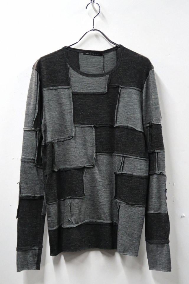 Acrylic&Wool Patchwork Pullover
